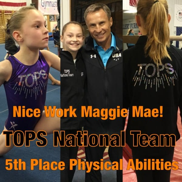 Maggie Slife TOPS National Team Camp